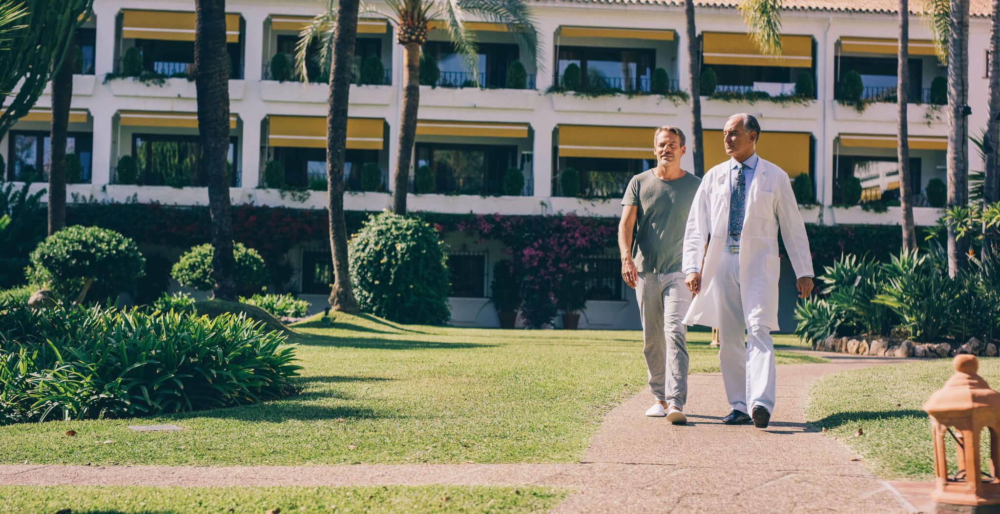 Buchinger Wilhelmi, Fasten, Heilfasten, Fasting, Health, Integrative Medicine, Garden, Garten, Doctor, Arzt, Marbella, Andalusia, Palms, Palmen