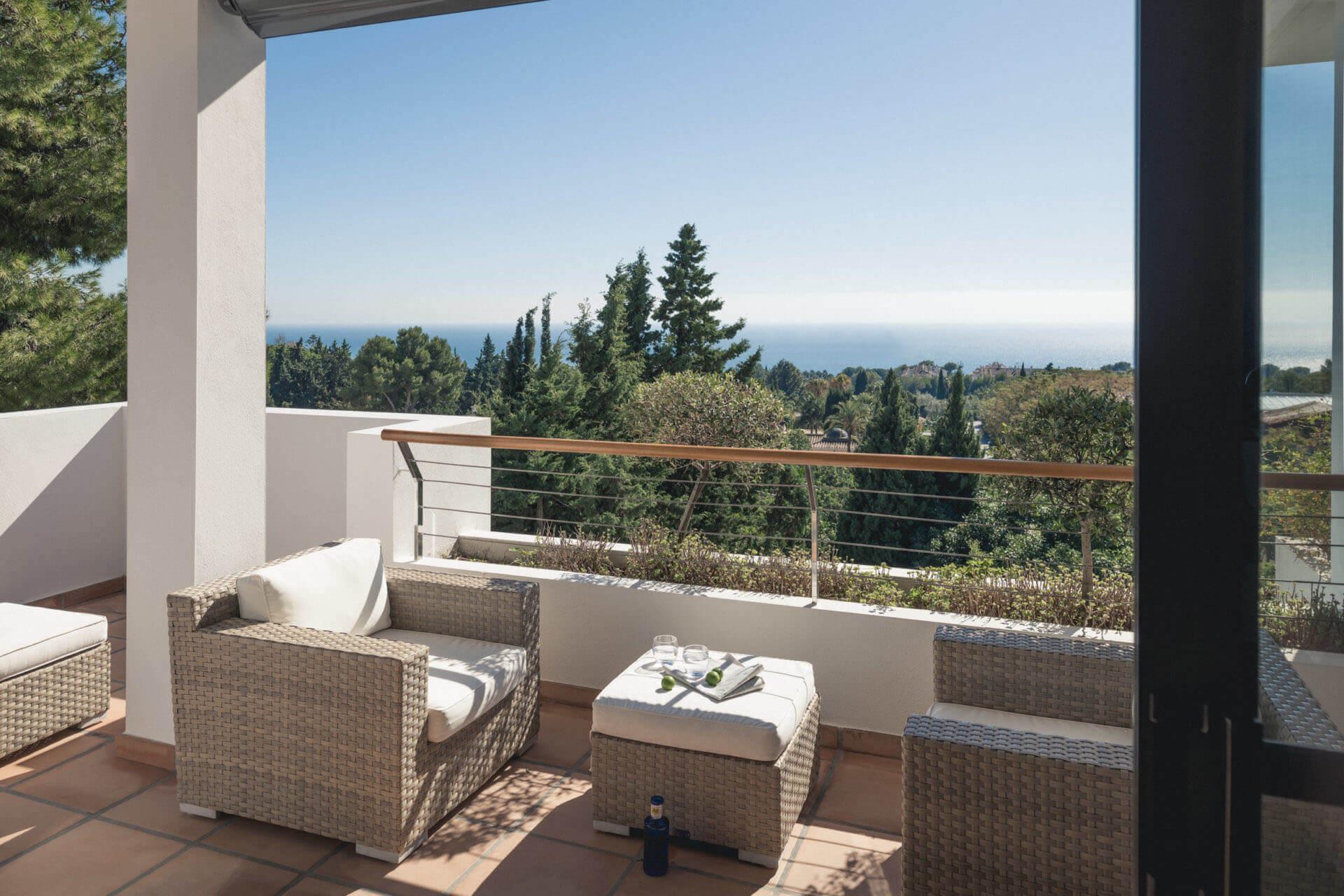 Buchinger Wilhelmi, Fasten, Heilfasten, Fasting, Health, Integrative Medicine, Suite Bella Vista Balcony, Marbella, Andalusia