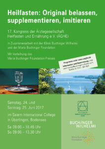 uchinger Wilhelmi, Fasten, Heilfasten, Fasting, Health, Integrative Medicine, Wissenschaft, Research, ÄGHE, Kongress, Congress, Maria Buchinger Foundation,