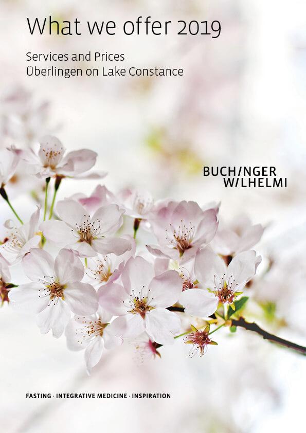 Buchinger Wilhelmi, Fasten, Heilfasten, Fasting, Health, Integrative Medicine, What we offer 2019 Überlingen