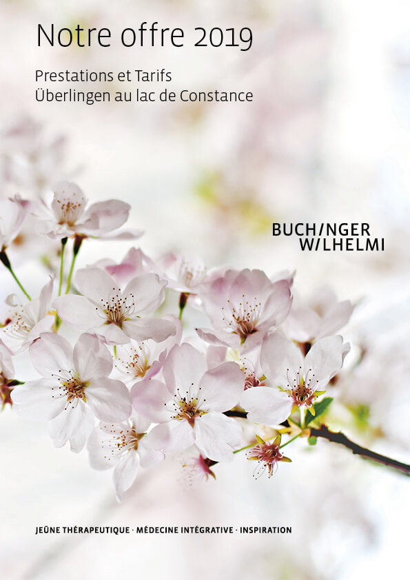 Buchinger Wilhelmi, Fasten, Heilfasten, Jeune, Health, Integrative Medicine, Notre offre 2019