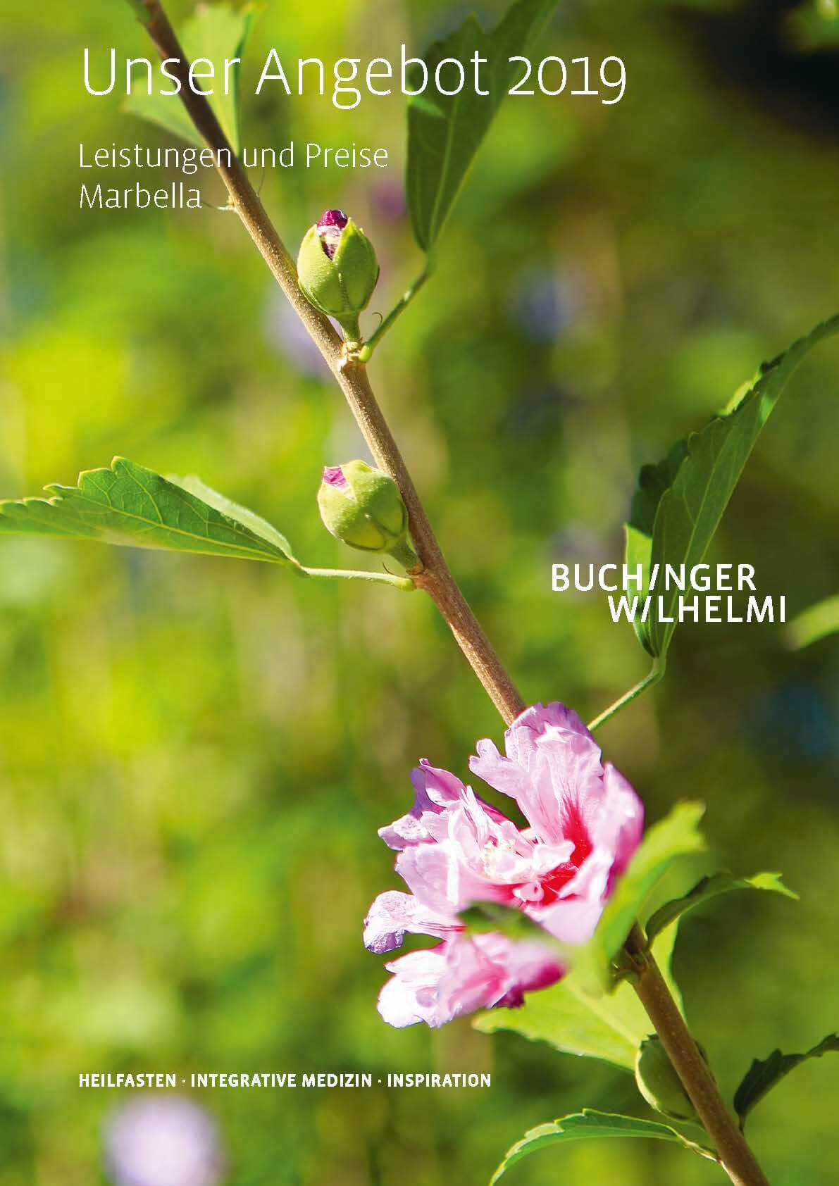 Buchinger Wilhelmi, Fasten, Heilfasten, Fasting, Health, Integrative Medicine, Unser Angebot 2019 Buchinger Wilhelmi Marbella