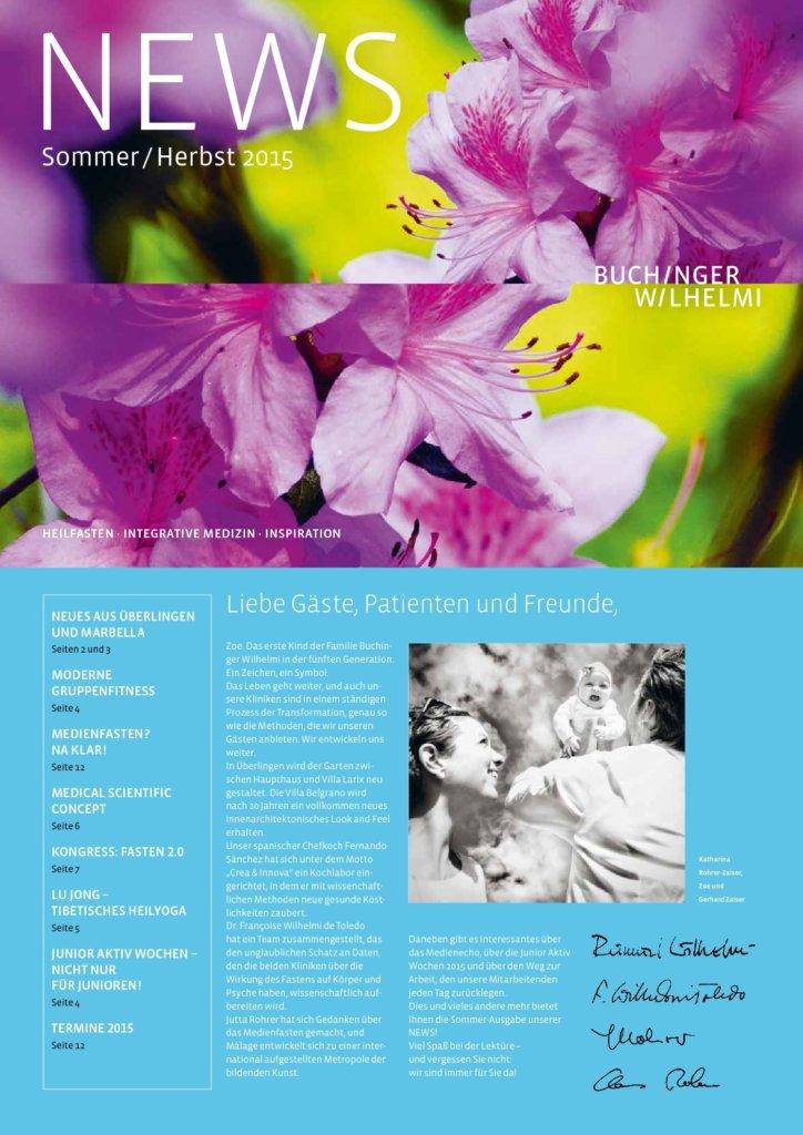 Buchinger Wilhelmi, Fasten, Heilfasten, Fasting, Health, Integrative Medicine, New, Mitteilung